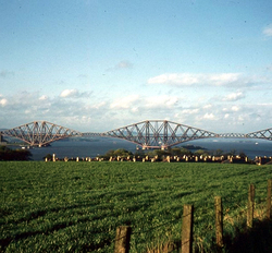 View Of Forth Bridge From About Echline 1960