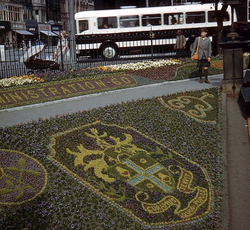 Part Of The Floral Clock Display In West Princes Street Gardens 1960