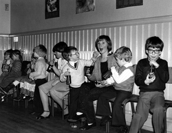 Craig & Rose Annual Works Children's Party In Pilrig Church, early 1970s