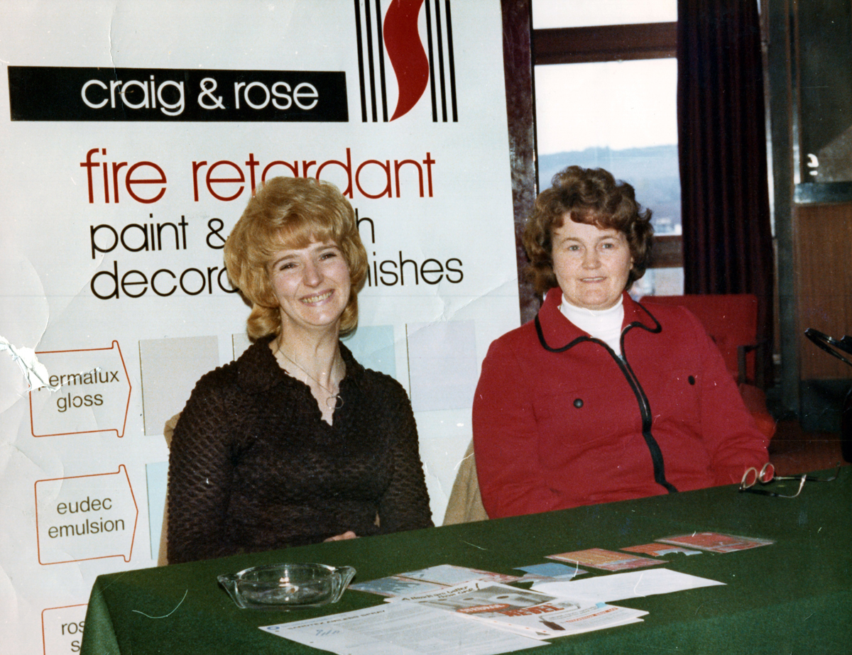 Craig & Rose Paint Manufacturer Employees At Trade Fair At Hotel In South Queensferry 1970s