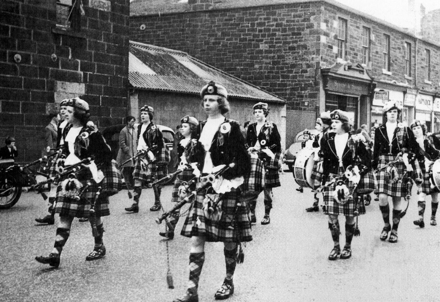 Youth Pipe Band Taking Part In The Leith Pageant c.1966