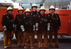 Safety Officers Training At McDonald Road Fire Brigade Station c.1983