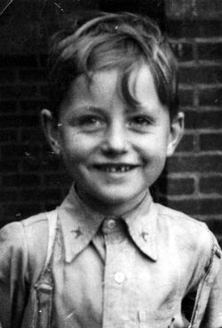 Close-Up Portrait Young Boy c.1954