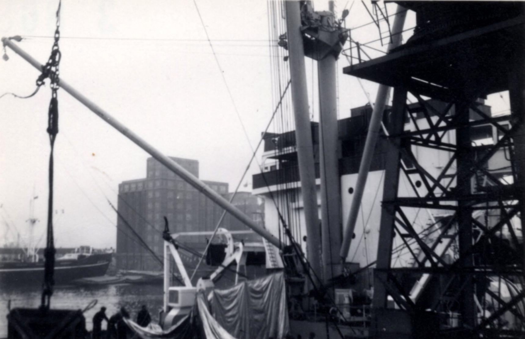Unfurling Of Ships Nylon Hatch Tent 1960s