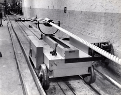 Rope Production - Trolley Cart On Section Of The Ropewalk 1960s