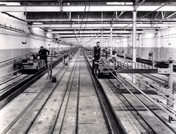 Rope Production - View Of Ropewalk Showing Operation Of Closing Strands Into Complete Rope 1960s