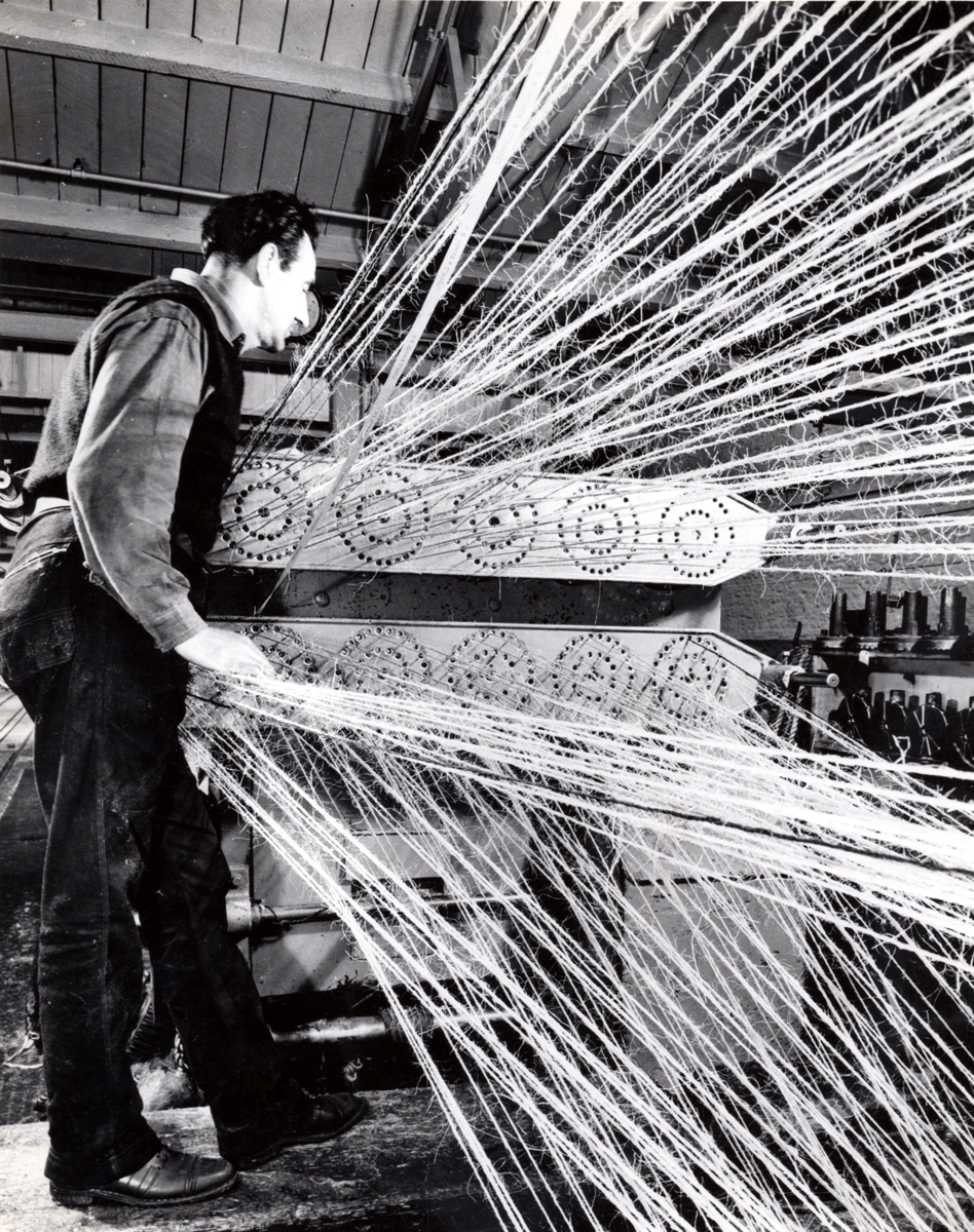 Rope Production - Strands Of Sisal Going Through Machinery On Part Of The Ropewalk 1960s
