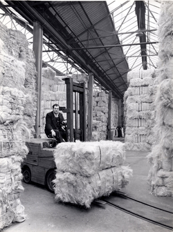 Shifting Bale Of Sisal On Forklift Truck 1960s