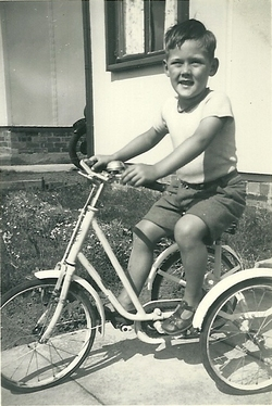 Stuart Laidlaw on first Tricycle 1953
