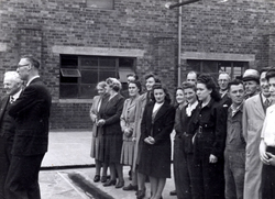 Staff At Leith Roperie Look On During Visit From Henry Robb Shipbuilder c.1946