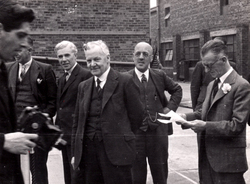 Henry Robb Shipbuilder On Visit To Leith Roperie c.1946