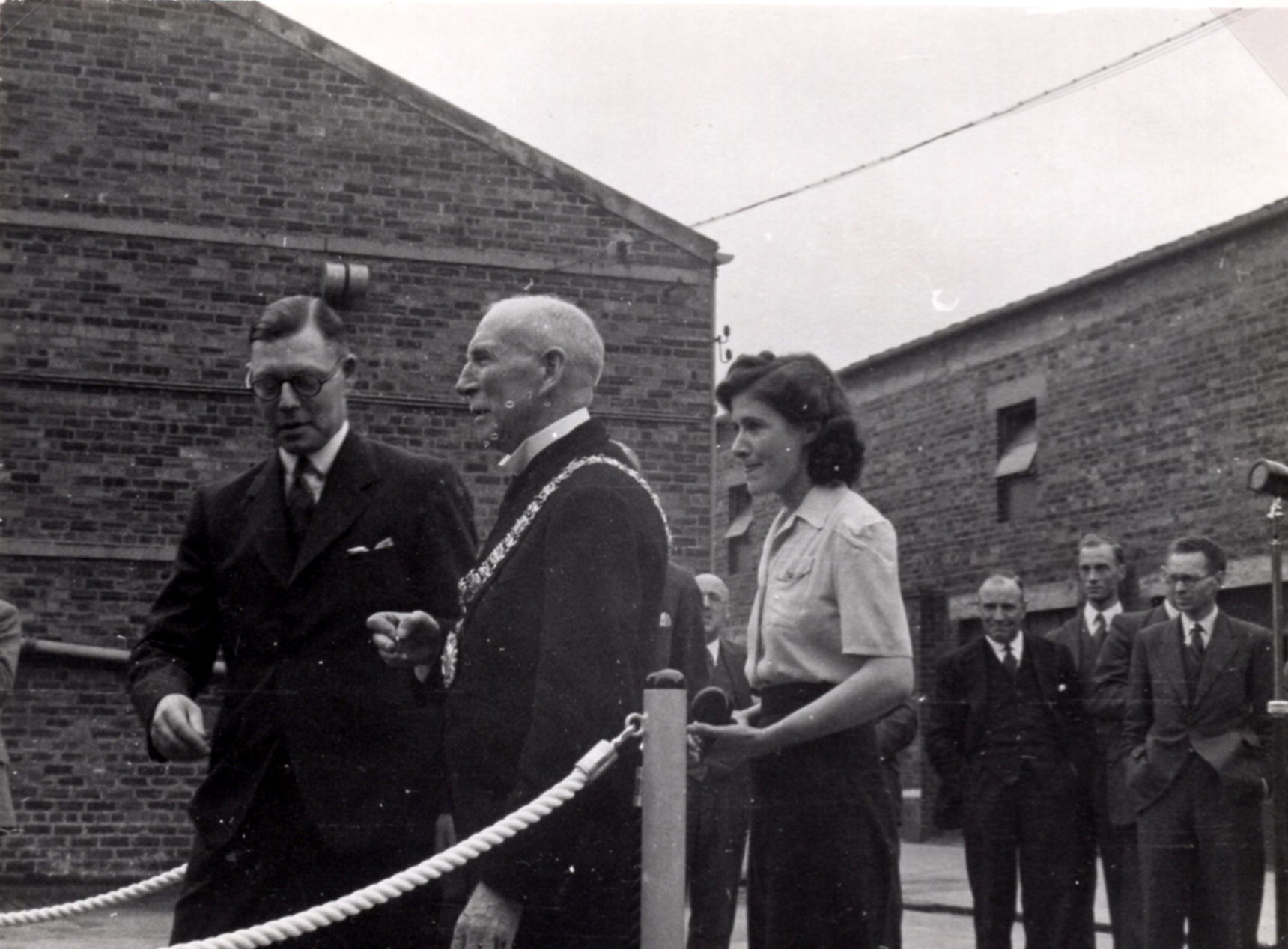 Lord Provost Falconer With Staff Of Leith Roperie On The Launch Of New Nylon Sales Van c.1946