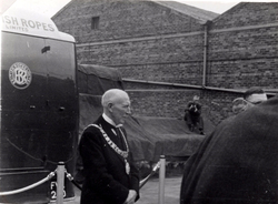 Lord Provost Falconer At Leith Roperie On Occasion Of Launch Of Nylon Sales Van c.1946