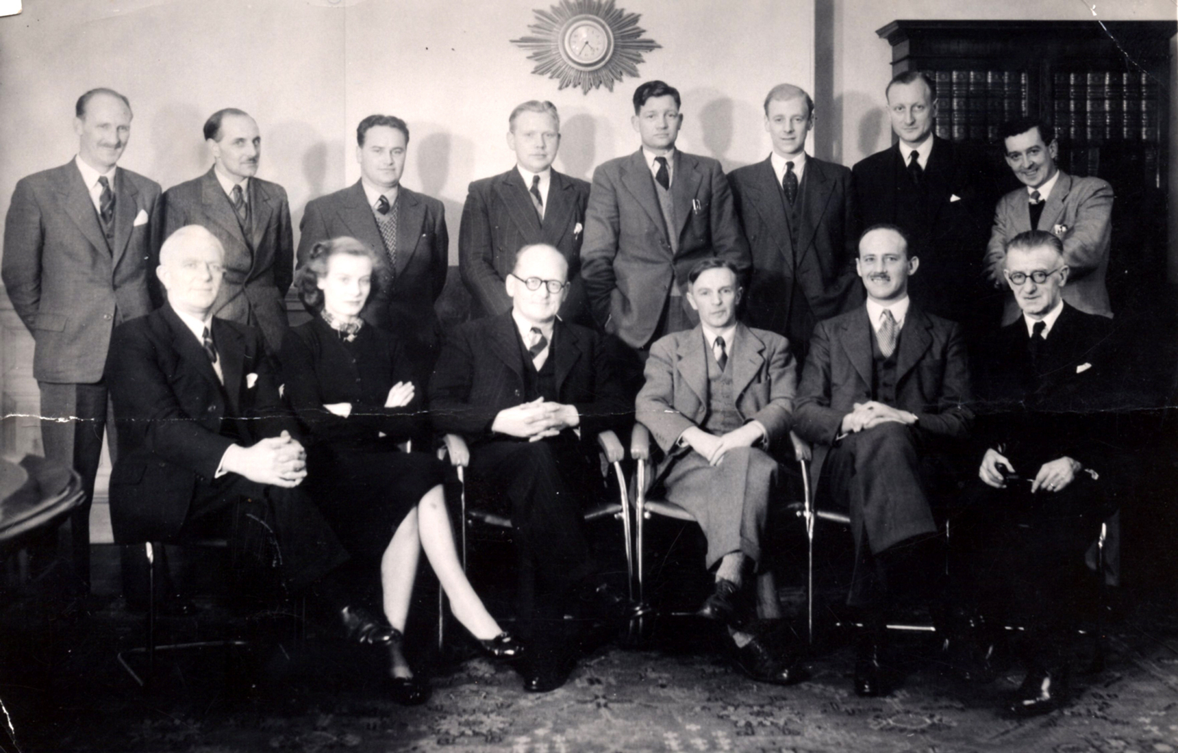 Attendees At British Ropes Ltd Conference Held In Leith c.1945