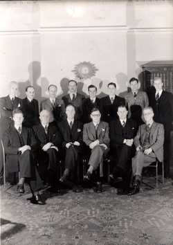 Attendees At British Ropes Limited Conference Held In Leith c.1945