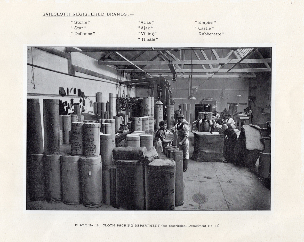 Leith Roperie - Cloth Packing Department c.1906