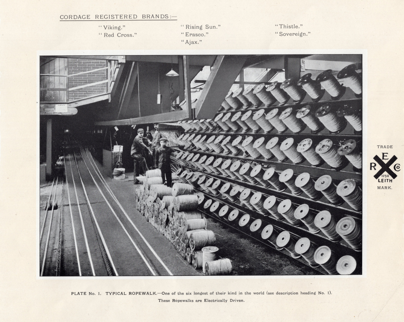 Electrically Driven Ropewalk At Leith Roperie c.1906