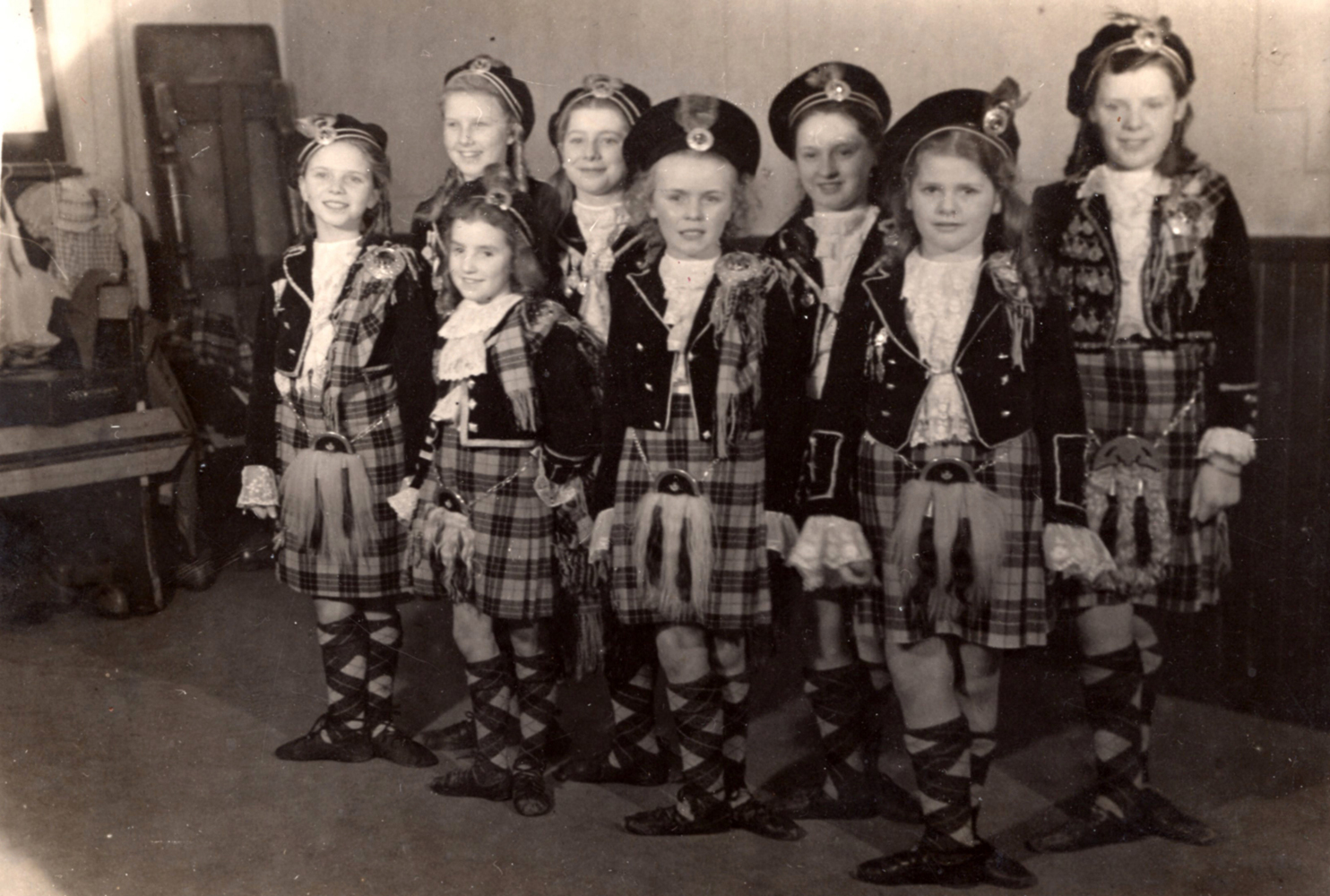 Young Dancers At Jean Carnie's School Of Dance 1940s