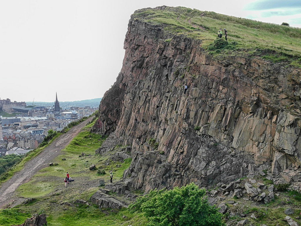 Salisbury Crags Rock Climber Rescue