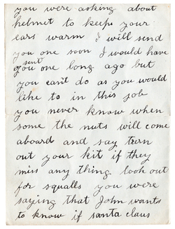 First World War Personal Letter From Father To Daughter c.1915
