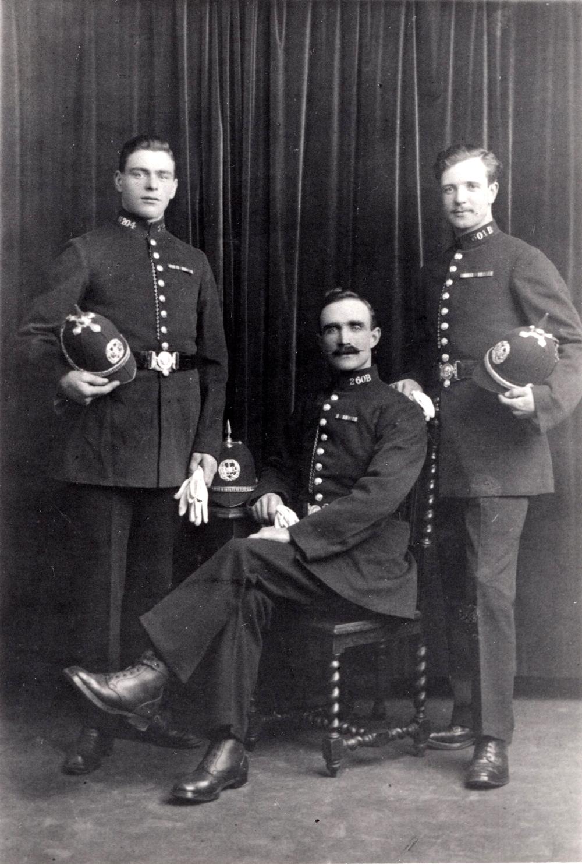 Studio Portrait Edinburgh Policemen 1920s