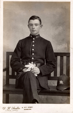 Studio Portrait Edinburgh Policeman 1910s