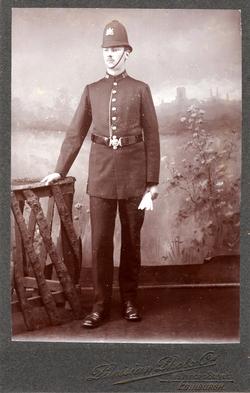 Studio Portrait Edinburgh Policeman c.1900