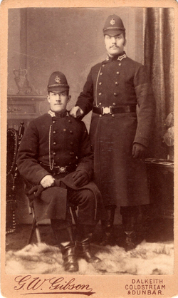 Studio Portrait Two Borders Policemen 1890s