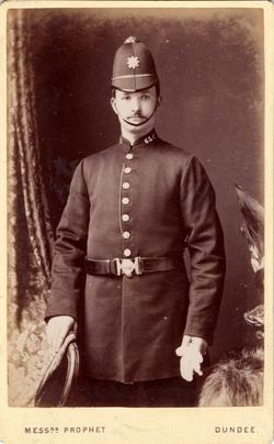 Studio Portrait Dundee Policeman