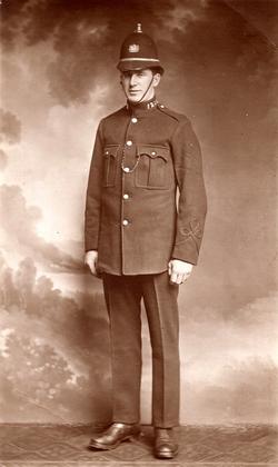 Studio Portrait Policeman Of Leith Constabulary 1910s