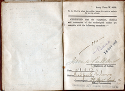 Soldier's Pay Book First World War 1917