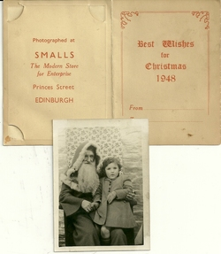 Santa and my sister Christine Laidlaw 1948